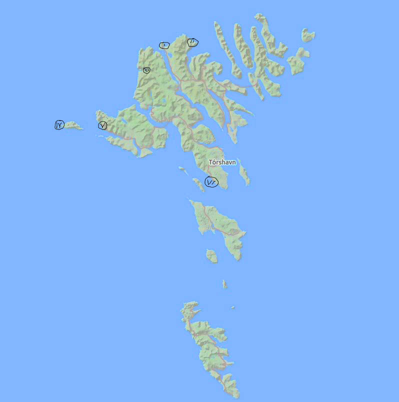 Färöer Inseln Karte.Unterwegs Auf Den Färöer Inseln